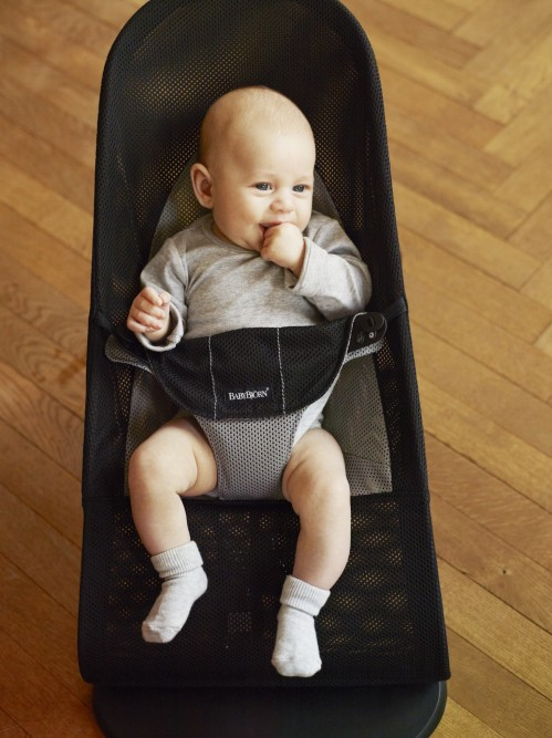 eeb0def9b46 BabyBjorn Bouncer Balance Soft - Black Grey Mesh