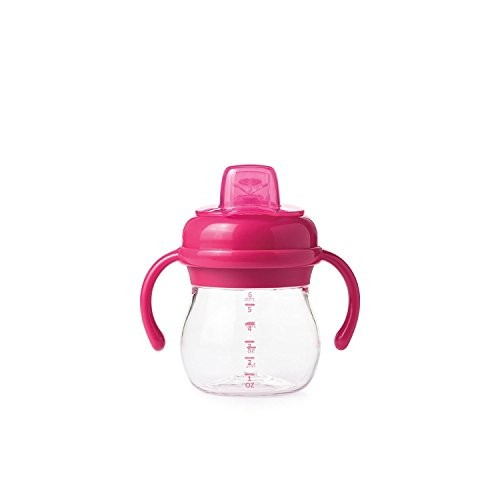 OXO Tot Transitions Soft Spout Sippy Cup With Removable Handles, Pink, 177ml