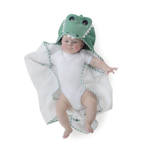 Bubba Blue Aussie Animals - Novelty Hooded Towel (Crocodile)