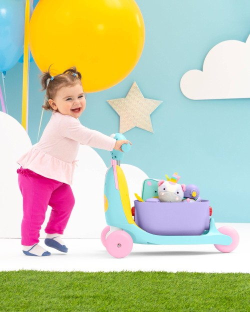 Skip Hop Zoo 3-In-1 Ride On Toy (Unicorn)